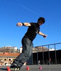derrapes patines linea. Borja Gonzalez, club tres60