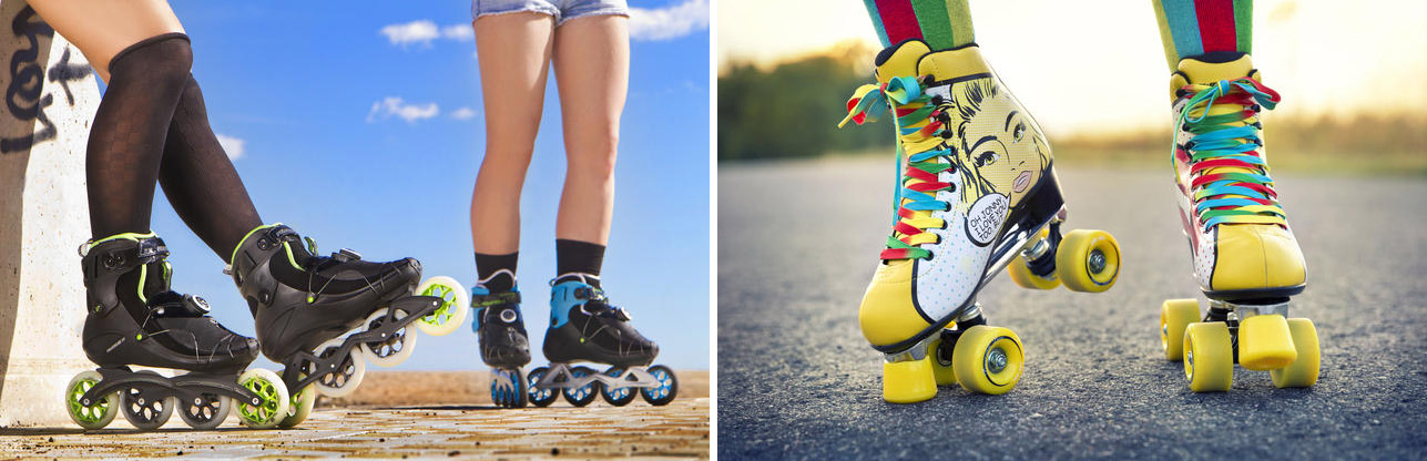 patines en linea vs patines 4 ruedas