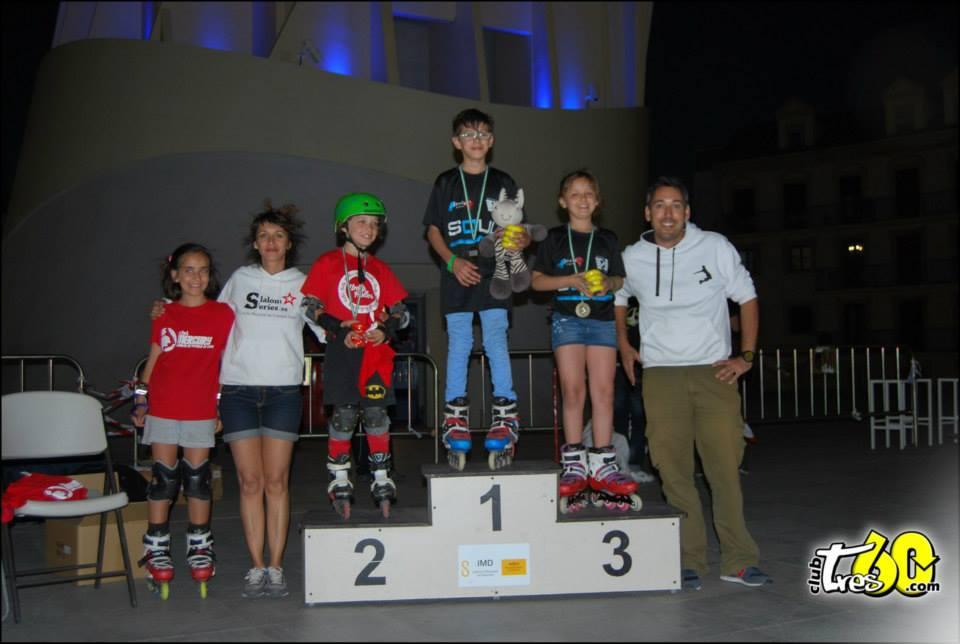 Podio Battle Sub14 - Spanish Slalom Series patinaje