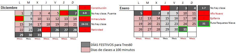Festivos Enero Febrero- Tres60