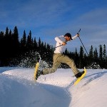 Alaska winter sports include snow shoeing