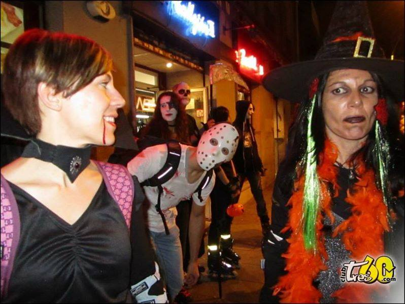 ruta halloween en patines madrid