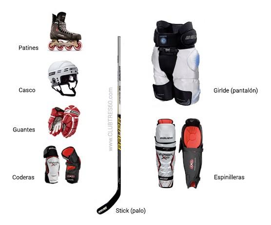 que material de hockey comprar linea Club tres60
