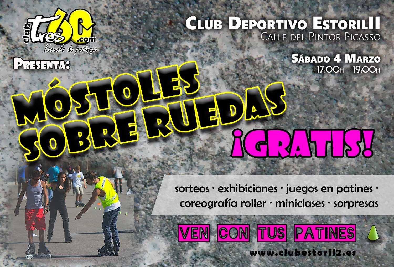 Fiesta del patinaje en m stoles 04 03 club tres60 madrid for Pistas de patinaje sobre ruedas en madrid