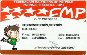 licencia de patinaje tres60