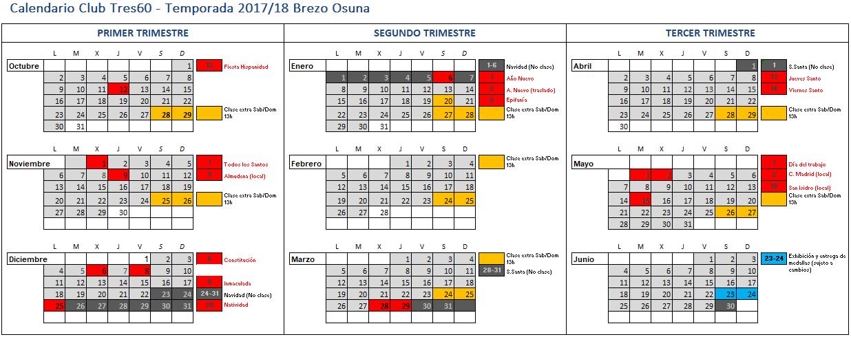 calendario brezo 2018