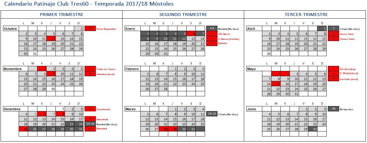 calendario mostoles 18