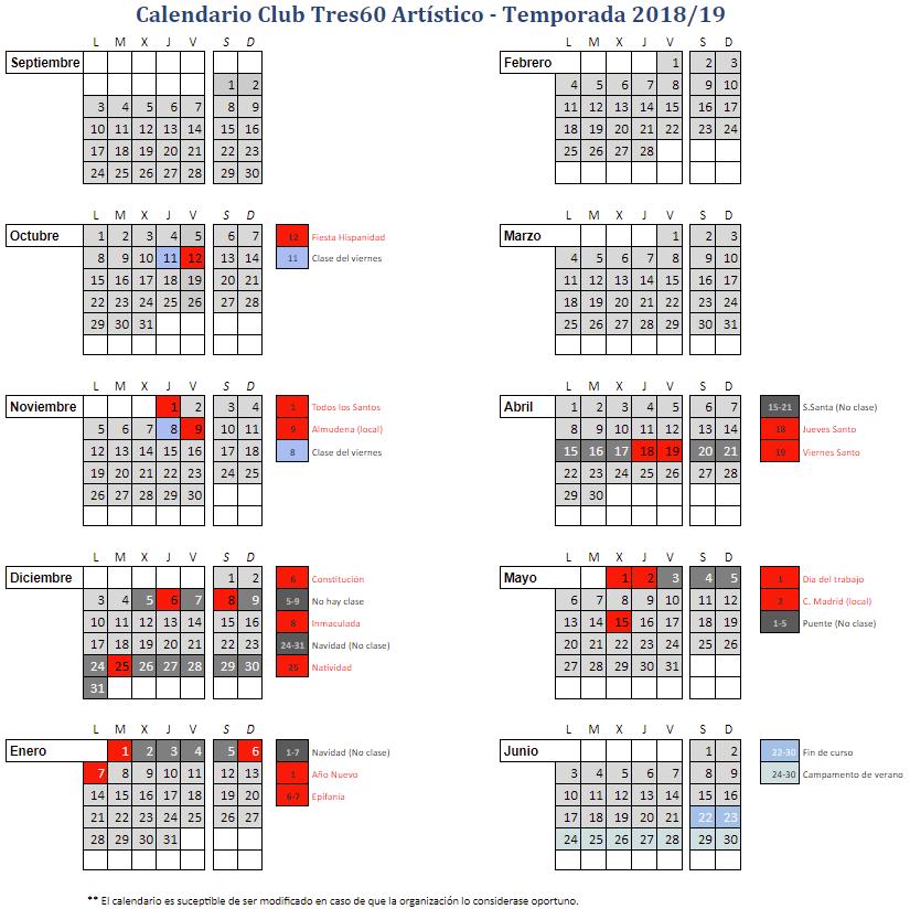 Calendario – Club Brezo Osuna
