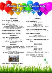 Festival patinaje artístico – Fin curso 18-19 - Club Tres60 Brezo Osuna